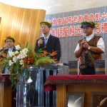 Rev Lee of Young-Nak PC preached in Korean, with translation on the left into Mandarin then on the right into Ngudradrekai